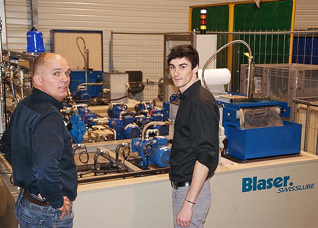 Vincent Delessard et Loïc Roux, de la société Halgand, témoignent de leur satisfaction du partenariat avec Blaser Swisslube.
