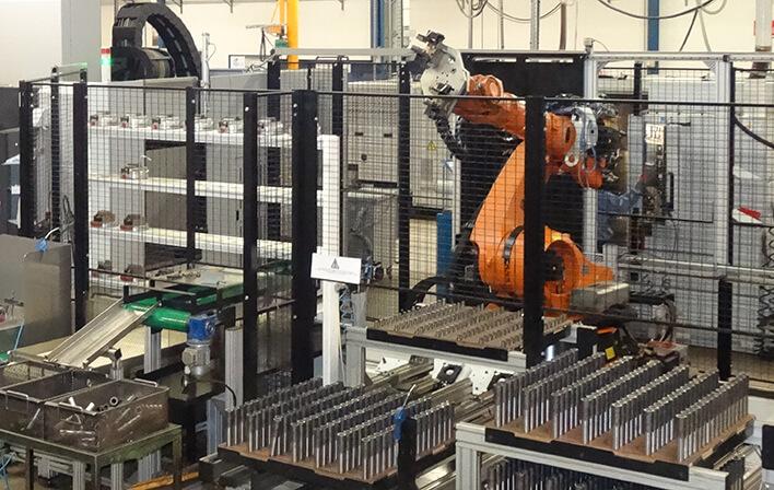 Dans cet atelier robotisé, la fiabilité des process et la performance dépendent de façon importante du lubrifiant de coupe