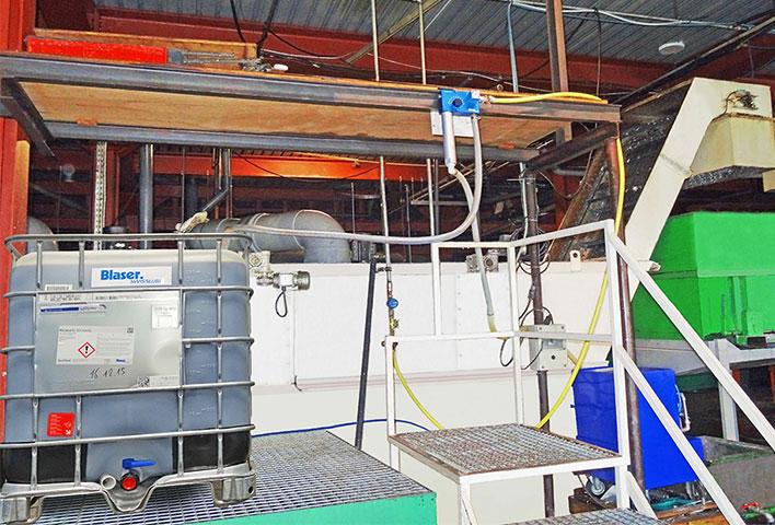 Centrale pour la gestion centralisée du lubrifiant de coupe