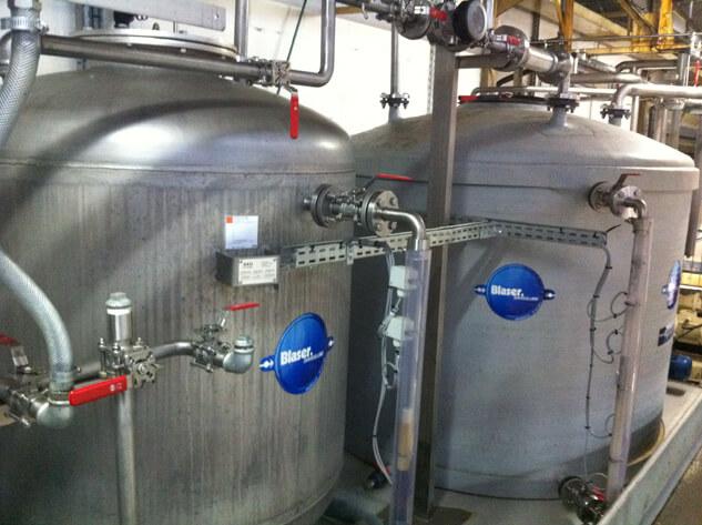 Centrale d'alimentation en lubrifiant de coupe de l'atelier Airbus à Nantes