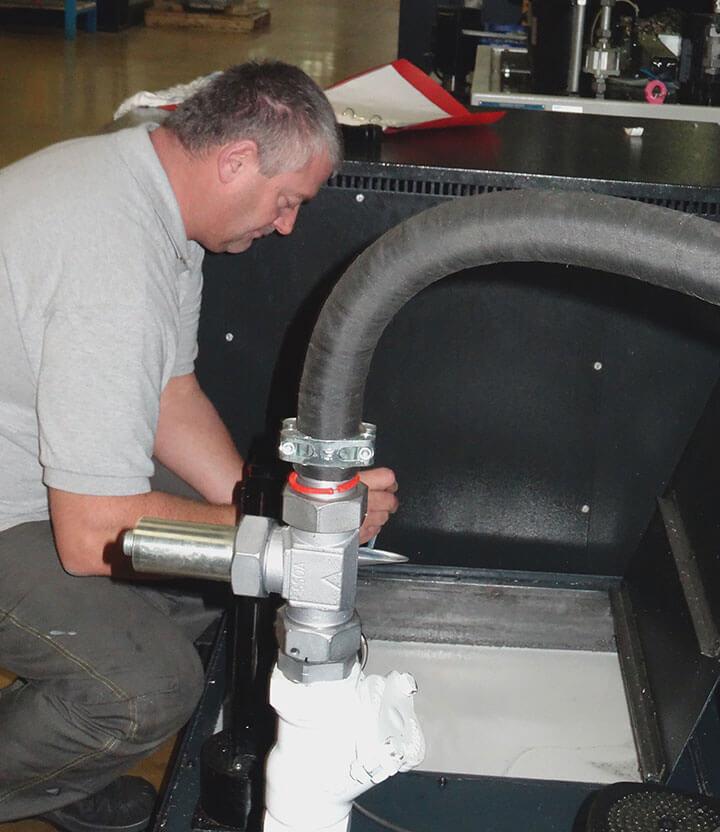 Stratégie de lubrification - Prelèvement mesure Mecaprec