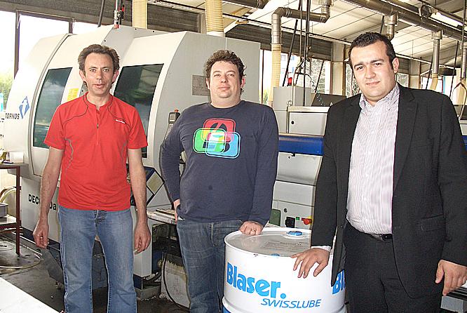 Patrice et Laurent BRONDEX conseillés par Cédric HEPP de Blaser, l'huile végétale Blasomill a été retenue