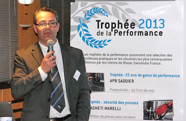 Philippe Lacroix au 4es trophées de la performance