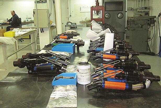 L'atelier de montage et de rétrofit des perceuses à rivets pour l'aéronautique
