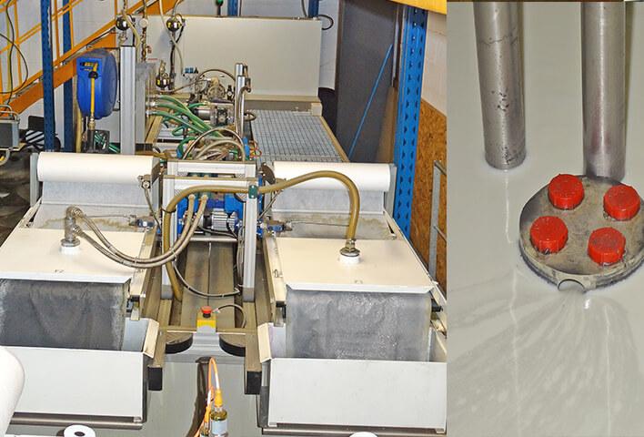 centrale de  recyclage du lubrifiant
