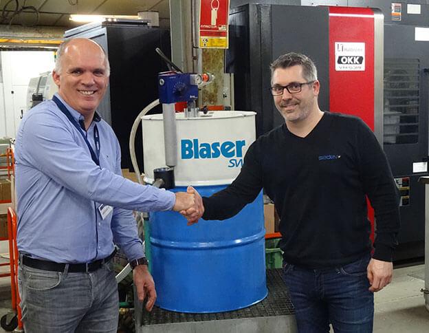 Equipe Sadev - Blaser, le collaboration gagnante avec le lubrifiant bio-concept